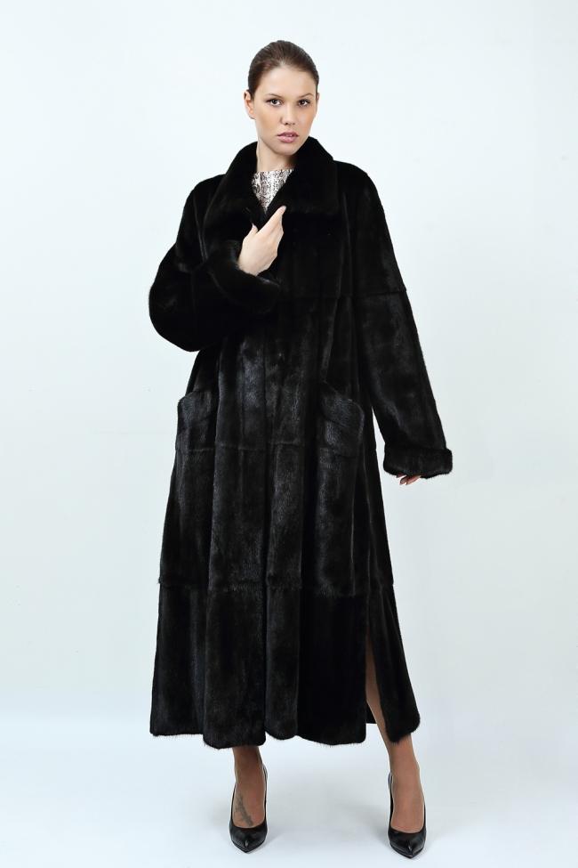 Пальто из  североамериканской  норки